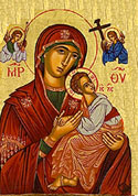 Blessed Virgin with infant icon